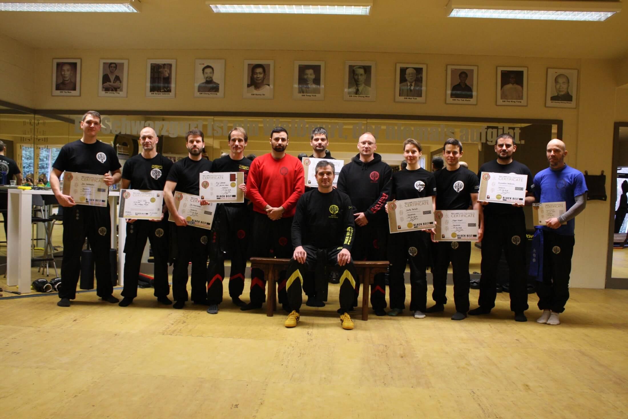 Teilnehmer der Black Belt Prüfung im Headquarter in Osnabrück.